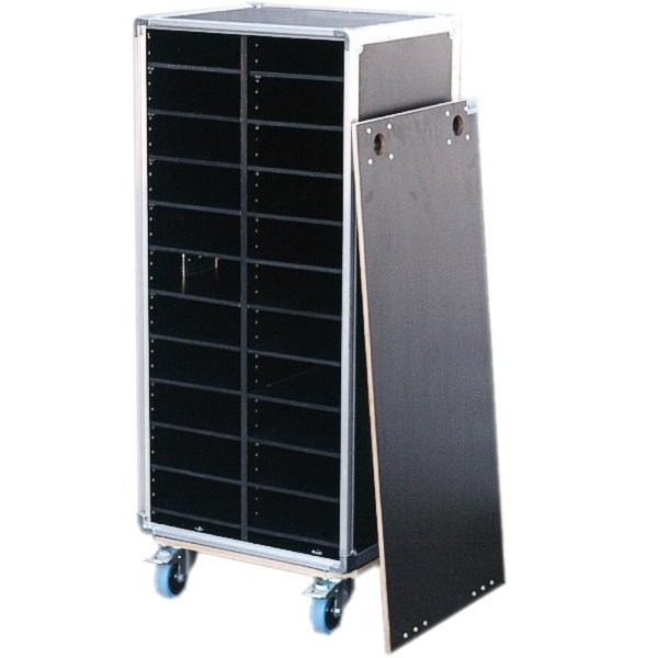 Schrankcase mit 18 variablen Fachböden BxTxH: 540 x 465 x 1263 mm