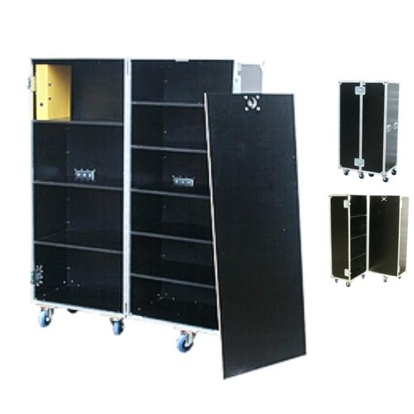 """Flightcase """"Profi"""" mit Fachböden für Ordner BxTxH: 647 x 840 x 1613 mm"""