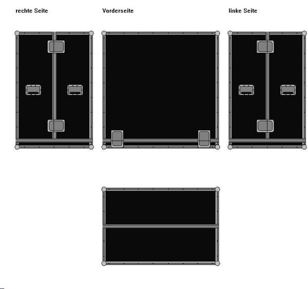 Haubencase geteilte Haube BxTxH: 1200 x 800 x 1200 mm