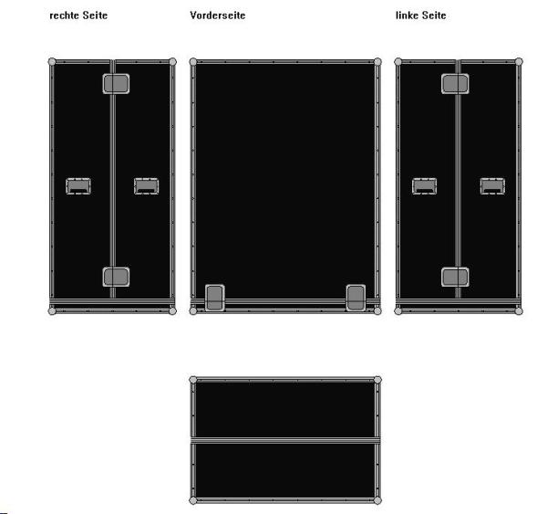 Haubencase geteilte Haube BxTxH: 1200 x 800 x 1600 mm