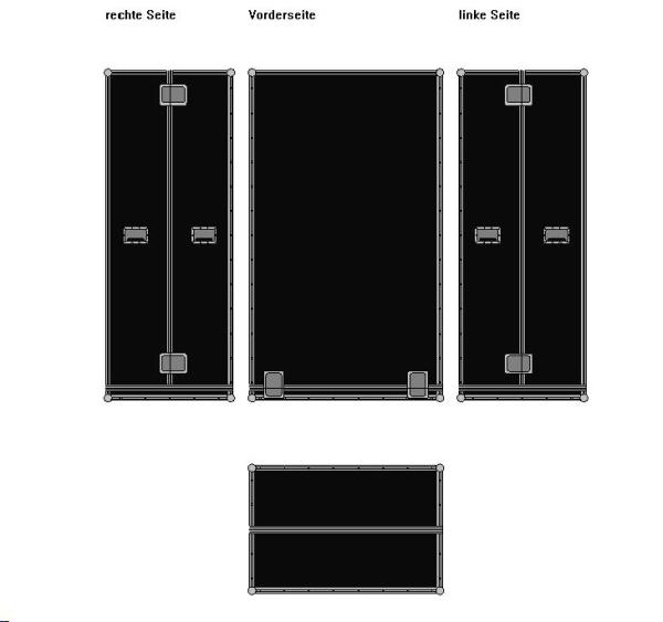 Haubencase geteilte Haube BxTxH: 1200 x 800 x 2040 mm