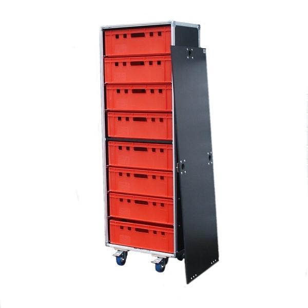 "Schrankcase ""Profi"" für acht Euro-Norm-Boxen BxTxH: 665 x 455 x 1883 mm"