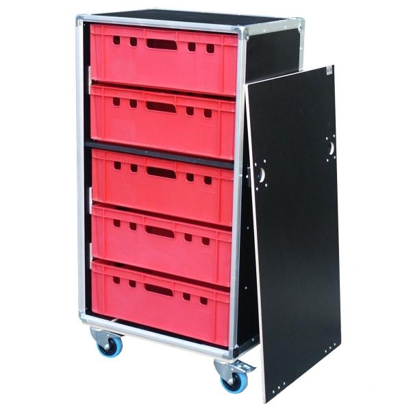 "Schrankcase ""Profi"" für fünf Euro-Norm-Boxen BxTxH: 665 x 455 x 1258 mm"