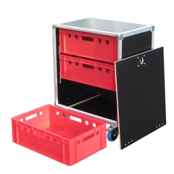 "Schrankcase ""Profi"" für drei Euro-Norm-Boxen BxTxH: 665 x 455 x 825 mm"