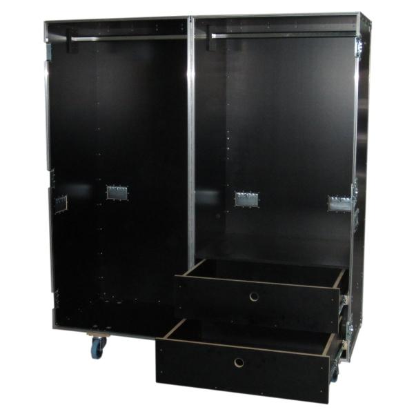 Garderobencase mit Kleiderstangen und Schubladen BxTxH: 800 x 1200 x 1775 mm