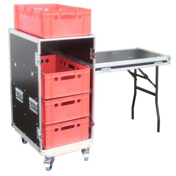 """Schrankcase """"Profi"""" für vier Euro-Norm-Boxen mit Tisch BxTxH: 483 x 697 x 1018 mm"""