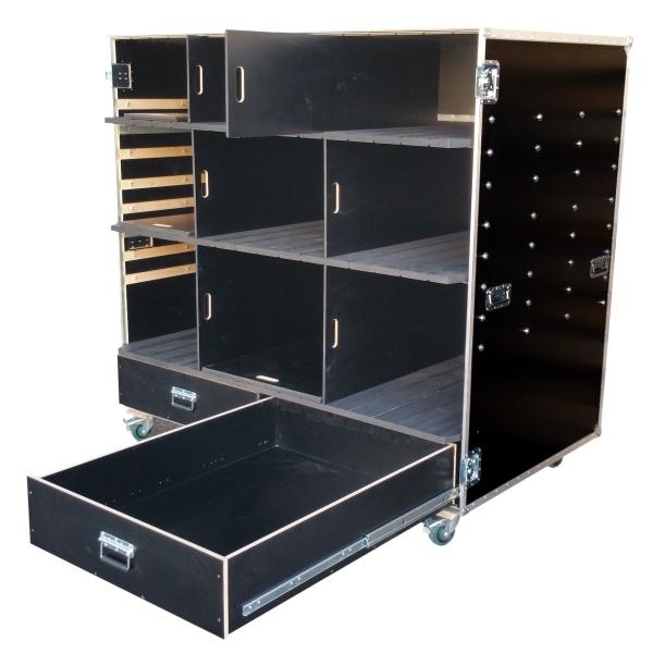 """Schrankcase """"Profi"""" mit Schubladen, variablen Fachböden und Trennwänden BxTxH: 1752 x 1140 x 1705 mm"""