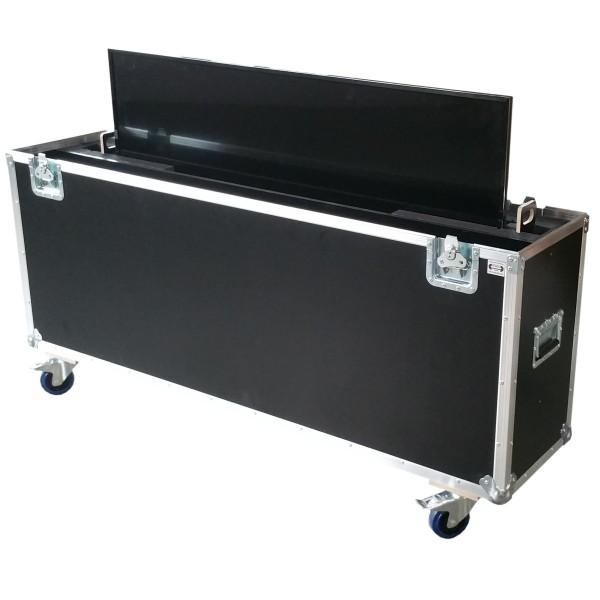 "Flightcase für ca. 55-65' Displays ""Variabel"" BxTxH: 1600 x 390 x 1125 mm"