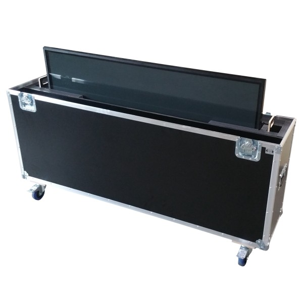"Flightcase für ca. 60-70' Displays ""Variabel"" BxTxH: 1710 x 390 x 1185 mm"