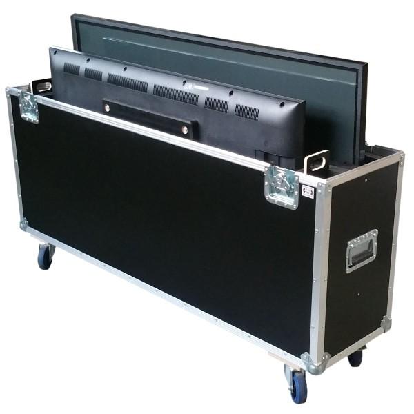 """Flightcase für zwei ca. 55-65' Displays """"Variabel"""" BxTxH: 1600 x 390 x 1125 mm"""