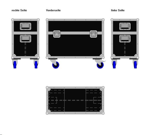 """Flightcase für zwei 30' Displays """"Economy"""" BxTxH: 840 x 409 x 715 mm"""