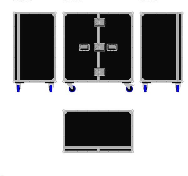 Schrankcase mit Flügeltür BxTxH: 1040 x 640 x 1175 mm