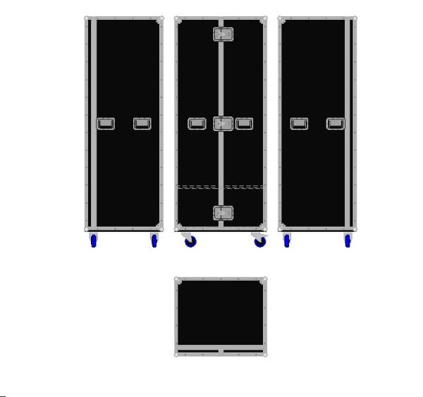 """Schrankcase """"Profi"""" mit Kleiderstange und Schublade BxTxH: 800 x 690 x 1975 mm"""