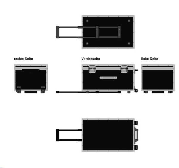 Gebraucht: Koffertrolley mit starken Gebrauchsspuren BxTxH: 784 x 504 x 404 mm