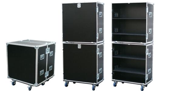 """Flightcase """"Profi"""" mit Regalausbau BxTxH: 850 x 828 x 1003 mm"""