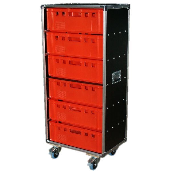 "Schrankcase ""Profi"" für sechs Euro-Norm-Boxen BxTxH: 665 x 455 x 1463 mm"
