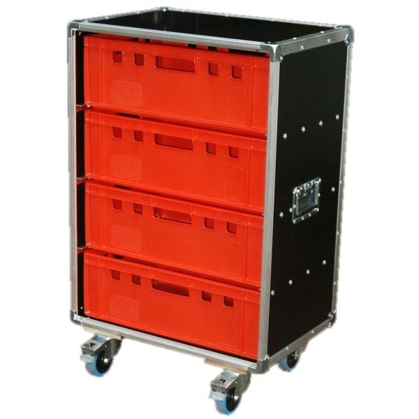 """Schrankcase """"Profi"""" für vier Euro-Norm-Boxen BxTxH: 655 x 445 x 1018 mm"""